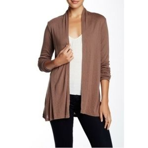 Michael Stars Open Front Long Sleeve Cardigan OS